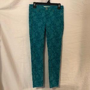 LC Lauren Conrad 4 Jeans Floral Skinny 1019